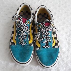 Vans Old Skool Checkerboard Multicolor shoes 6 1/2